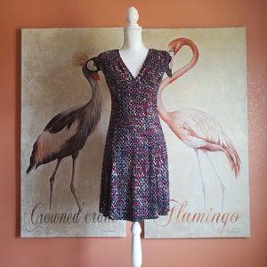 Jones New York Stretch Mini Dress Print MultiColor